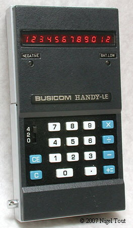 history of calculators LE-120