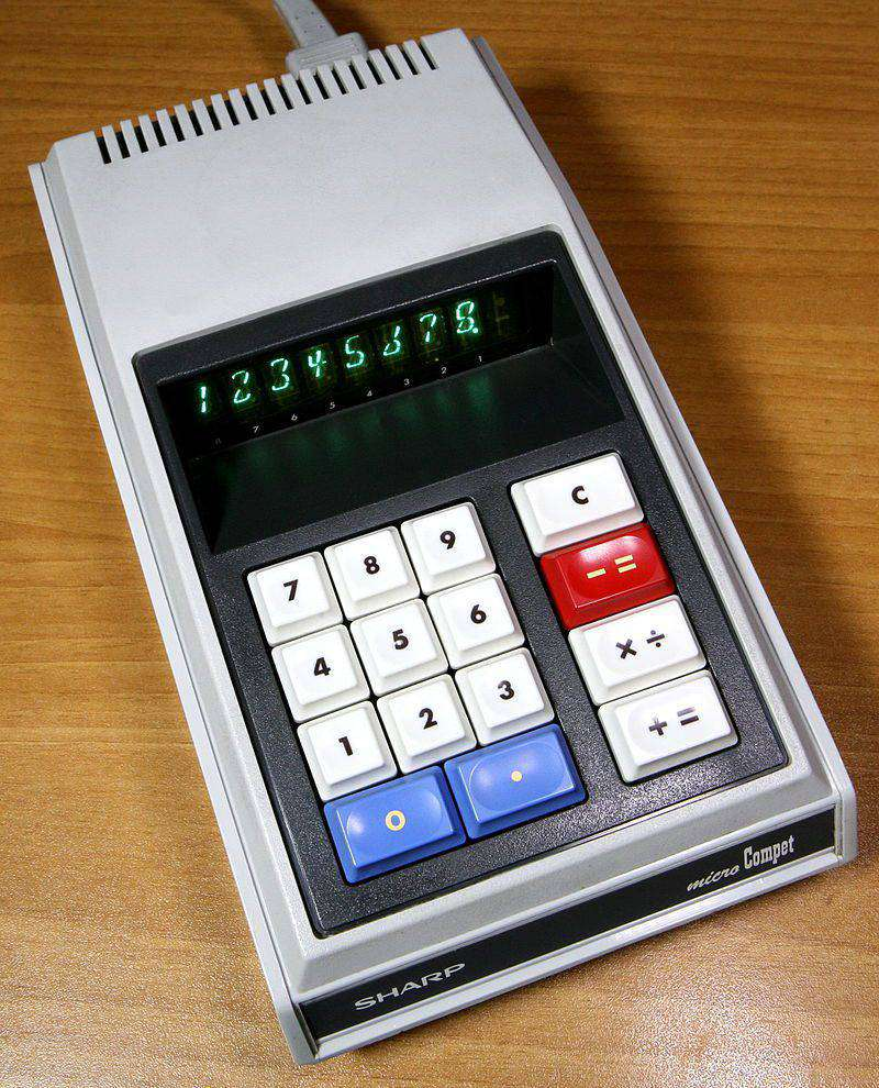history of calculators Micro Compet
