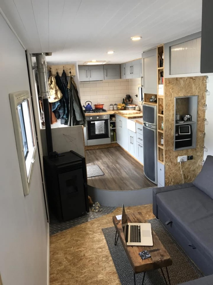 Couple Renovates Bread Truck To Build the Perfect Mobile Home