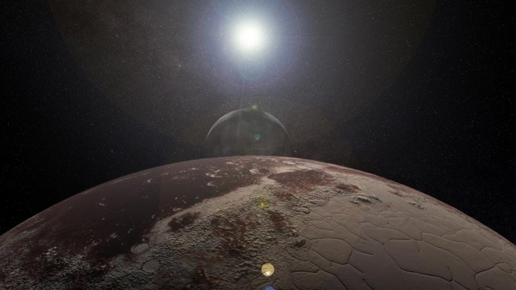 Pluto Charon Sun