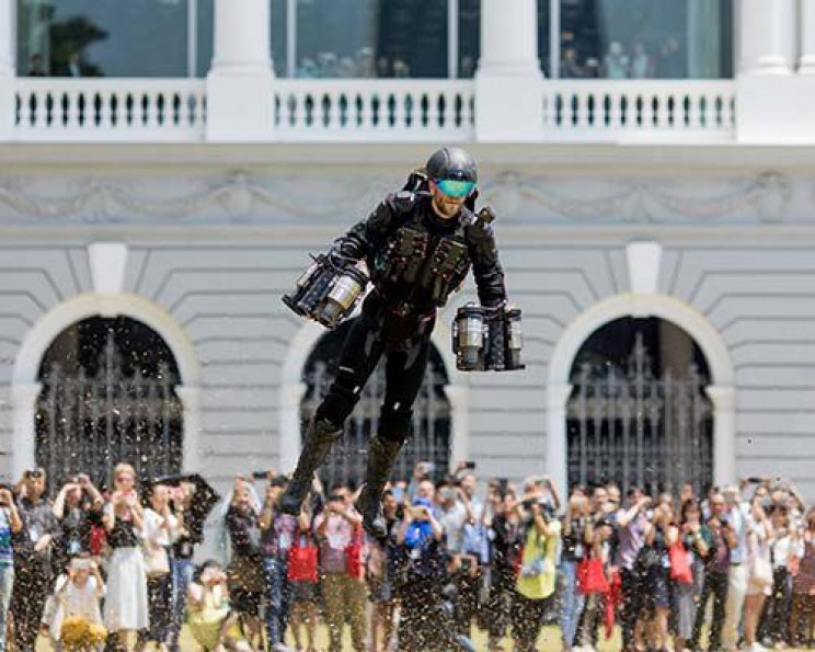 Real life super hero tech flying suit