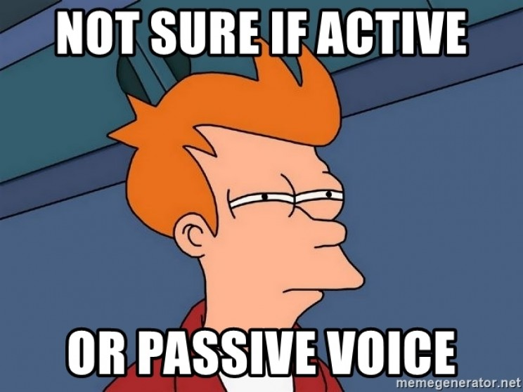 Active and Passive Voice Meme