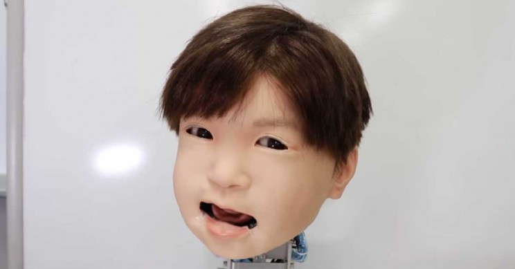 Japanese Android Child's Face Can Now Convey Human Feelings