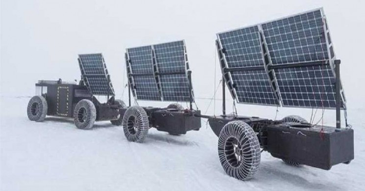 Clean2Antarctica solar vehicle plastic wate