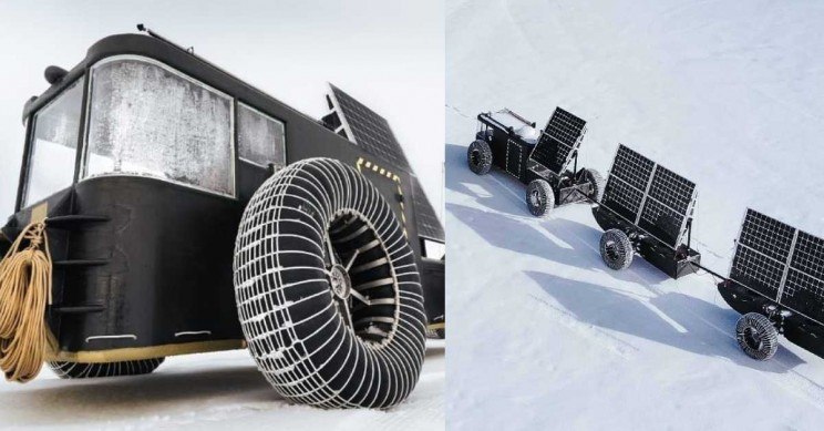 Dutch Couple 3D Prints Solar-Powered Vehicle from Plastic for South Pole Journey
