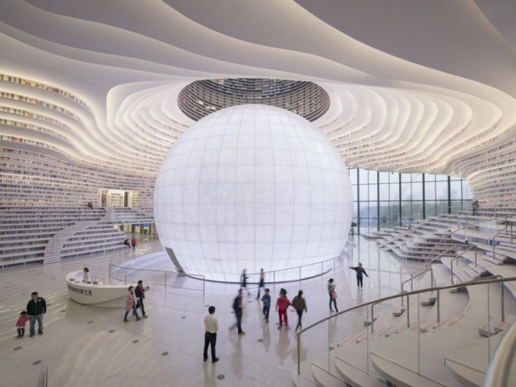Tinajin's New Public Library Looks Like a Moving Sci-Fi Cave