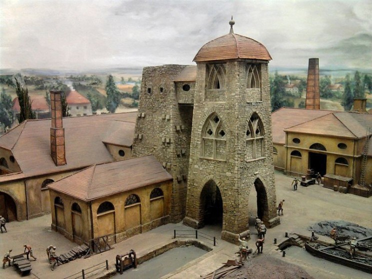 inventions of the middle ages blast furnace