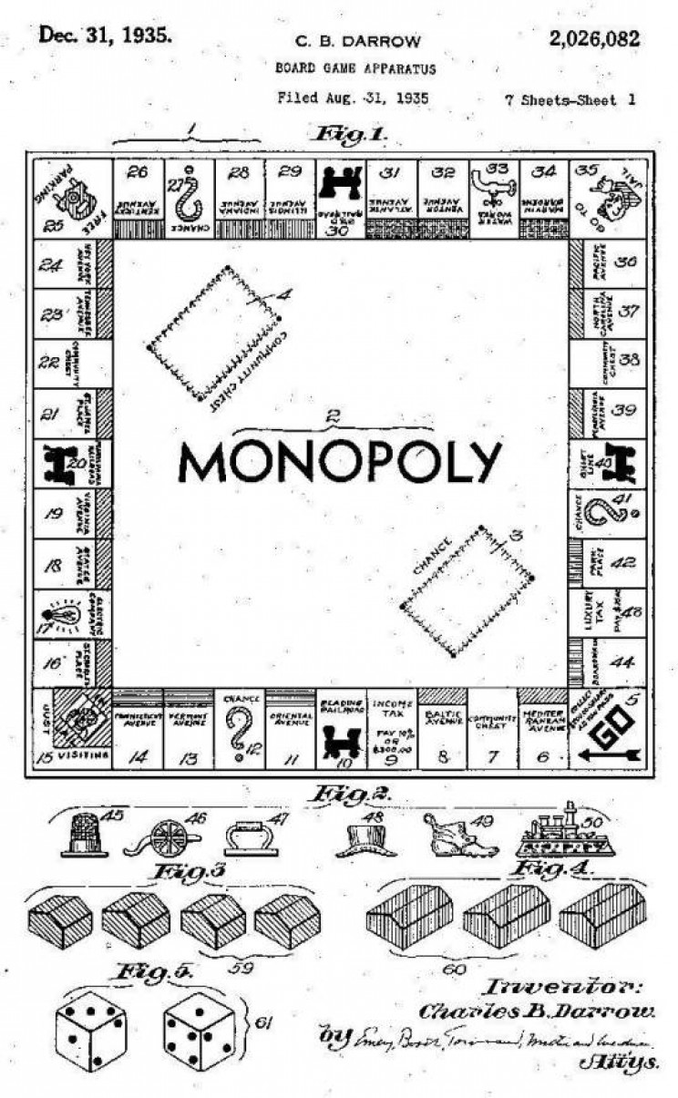 monopoly Darrow patent