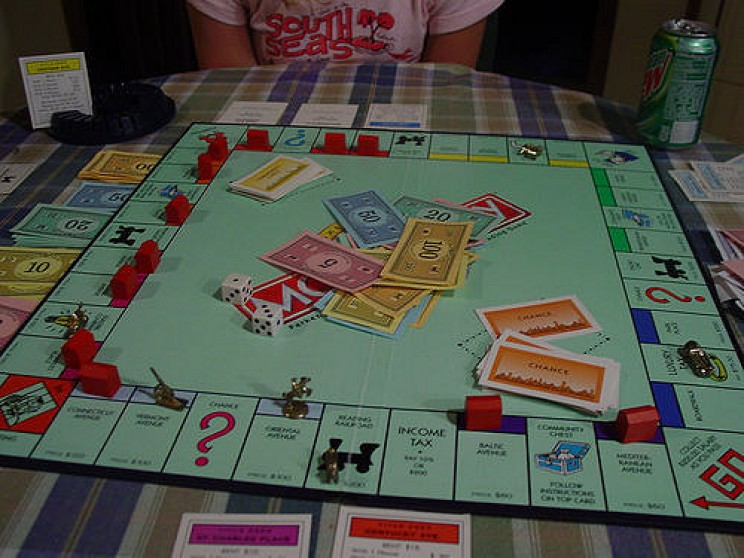a typical game of Monopoly