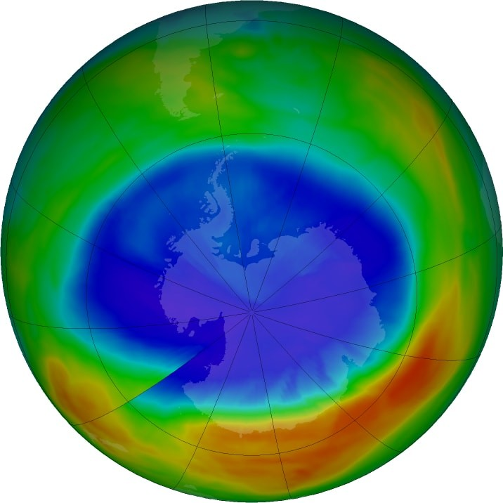 NASA Reports That the Hole in the Ozone Layer Is the Smallest It's Been in 30 Years