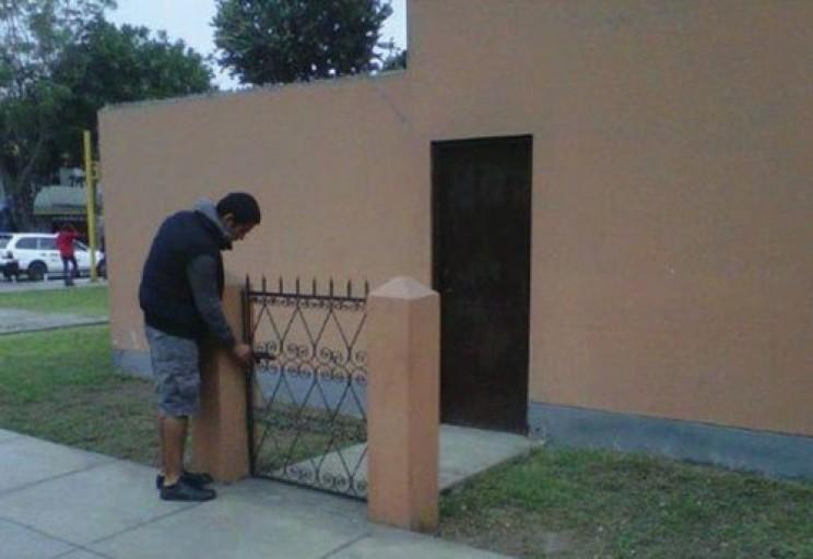 Security Door with Walls