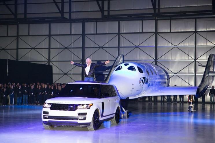 Richard Branson Unveiling  Virgin Galactic's SpaceShipTwo