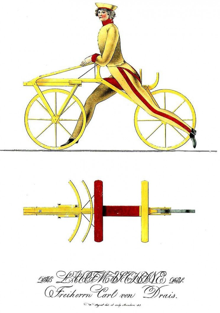History of the bicycle Draisienne