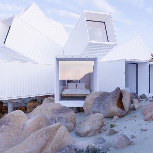 This Unusual House Made out of Splayed Shipping Containers Is Absolutely Stunning