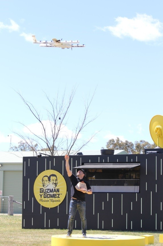Google Drones Now Air-Drop Burritos to People's Doorstep in Australia