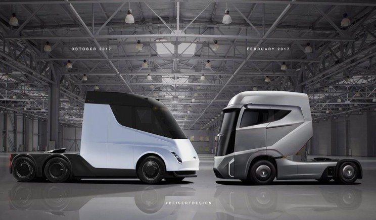 This Designer Created High-Resolution Renderings of the Tesla Semi Truck and They Look Incredible