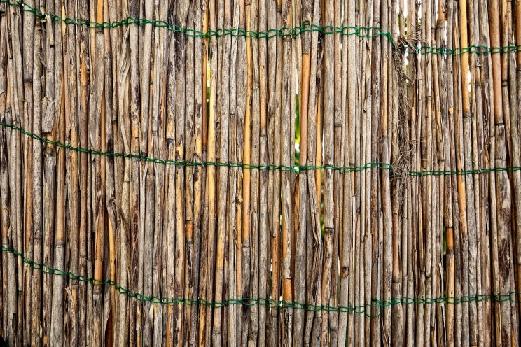 A bamboo fence is easy to make and maintain