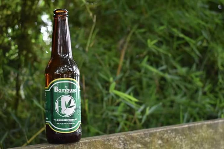 Bambusa beer is made with bamboo leaves