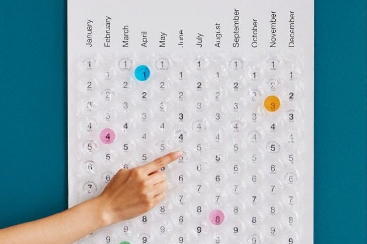 Stay on track with this quirky calendar