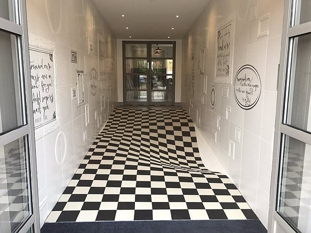 This Corridor's Insane Tiling Is Baffling People