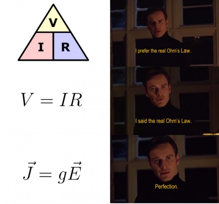 funny memes about science ohm's law