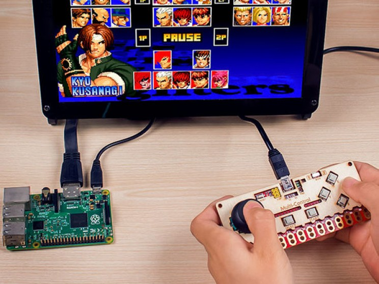 This muli-control board can be used for games and music.