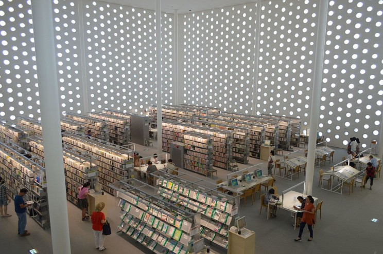 Kanazawa Umimirai Library, Kanazawa City, Japan