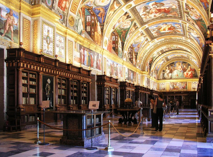 Royal Site Of San Lorenzo De El Escorial Library, S. Lorenzo De El Escorial, Spain