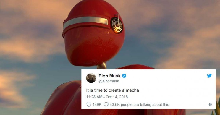 Elon Musk Says it's Time to Build a Giant Fighting Anime Mecha Robot