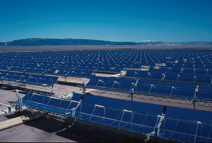 Solar power plants parabolic trough