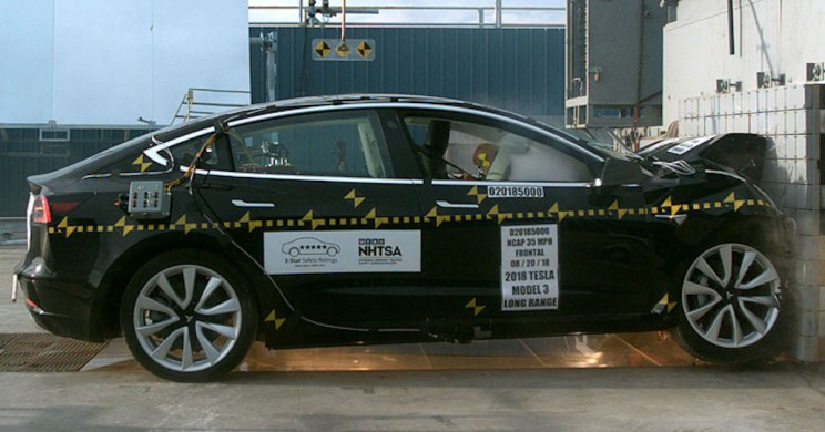 Tests Show Tesla Model 3 Has the Lowest Probability of Injury Ever
