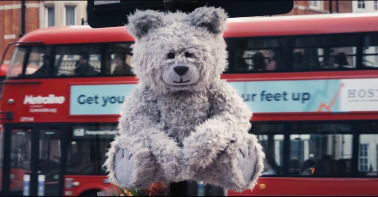 This Coughing Teddy Bear Raises Air Pollution Awareness on London's Streets