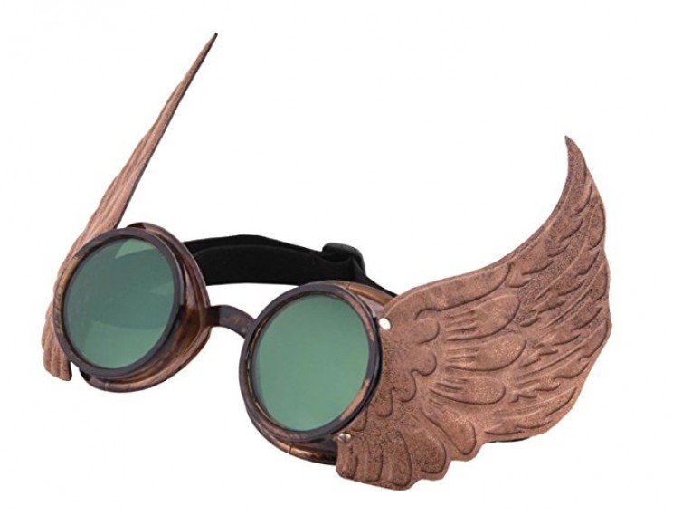 Turn into a steampunk scientist with these perfect winged glasses