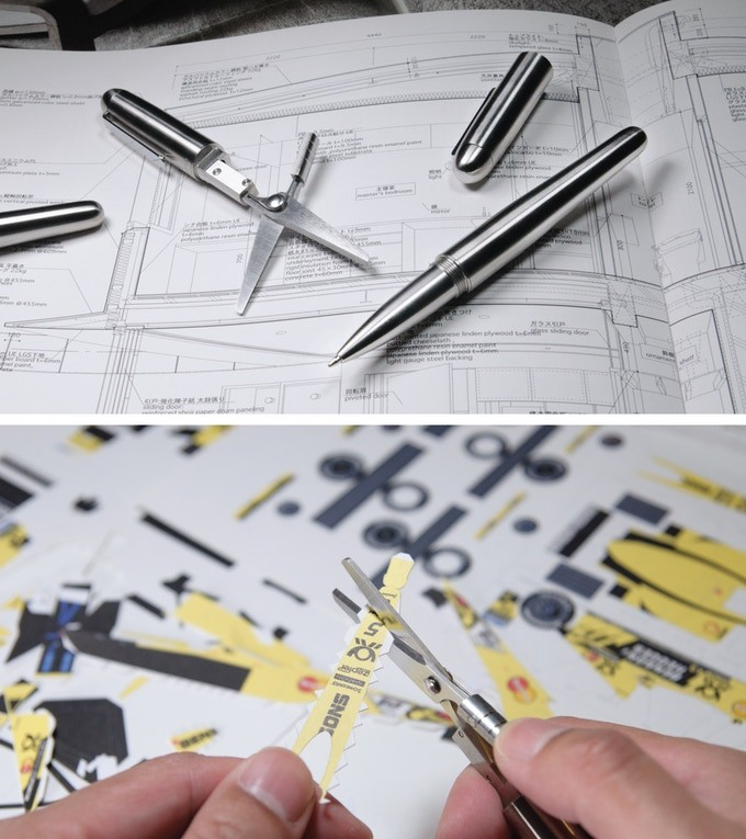 This Fabulous Tool Brings Together Scissors and Pen in One Design