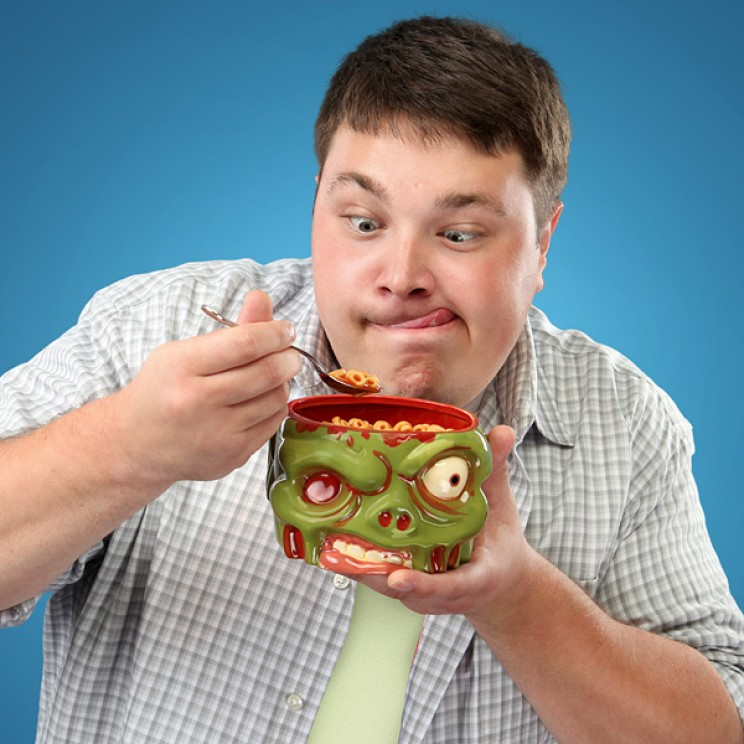 This zombi head cereal bowl will make your day.