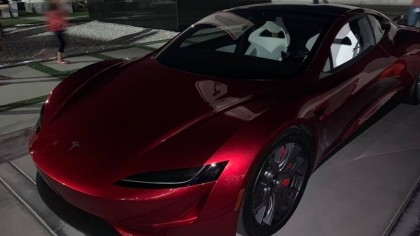 Next Generation Tesla Roadster Turns Heads at Tesla Delivery Center
