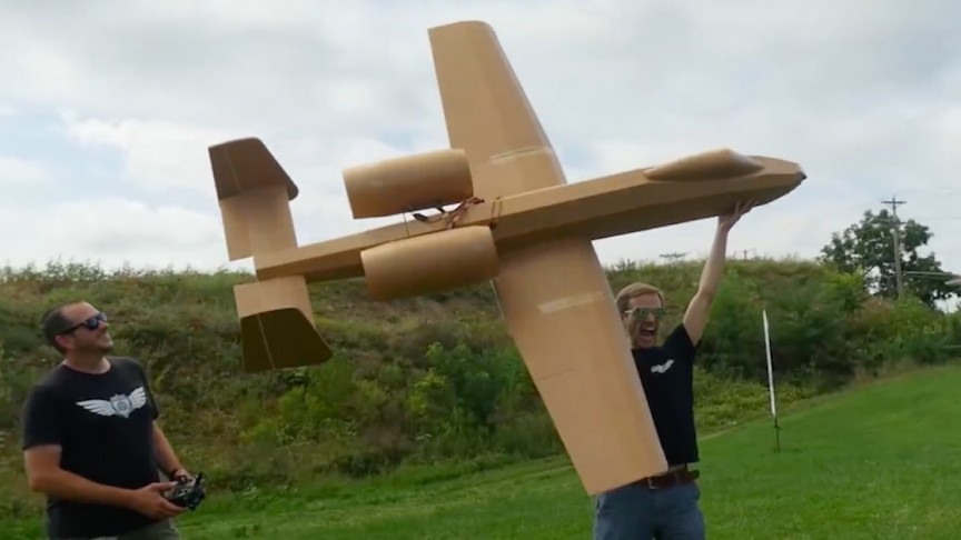 This Giant Remote-Controlled A-10 Warthog Was Built With Less Than $50