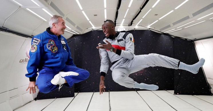 Earth's Fastest Man Usain Bolt Proves He Can Break Speed Records Even in Space
