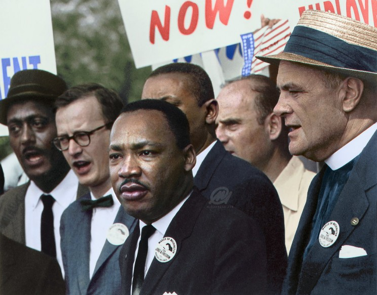 Civil Rights March On Washington, D.C. (Dr. Martin Luther King, Jr. And Mathew Ahmann In A Crowd.