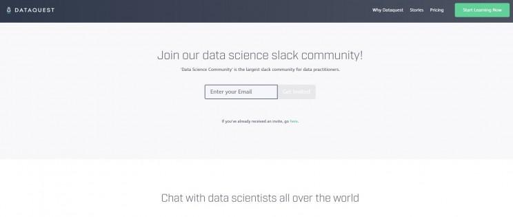 Data Quest Slack Group