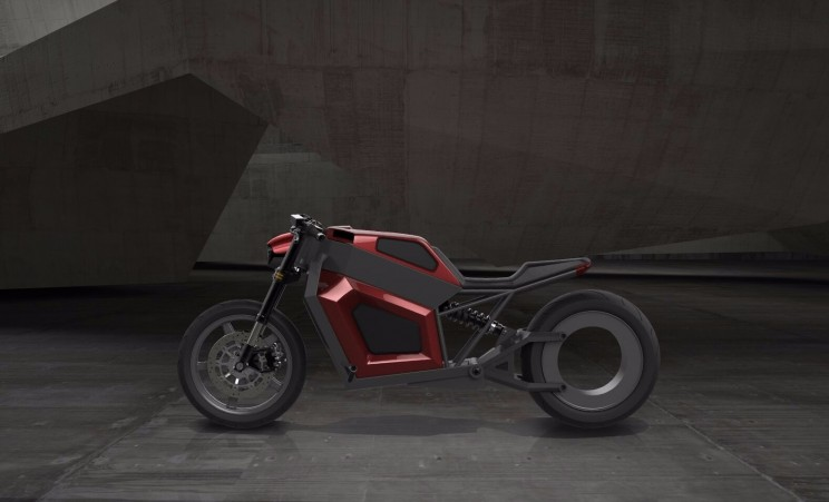 This Electric Motorbike with Hubless Rear Wheel Hits Top Speed of 160 km/h