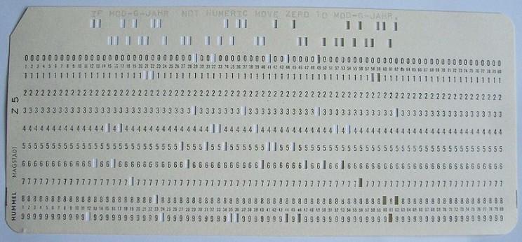 Grace Hopper punch card code