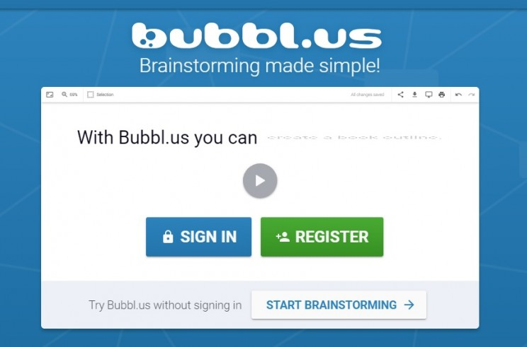 mind mapping apps Bubbl.us