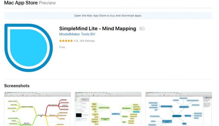 Mind mapping SimpleMind