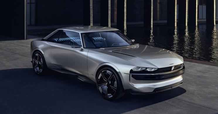 Peugeot's e-Legend is an Autonomous Electric Modern Version of The 504 Coupé