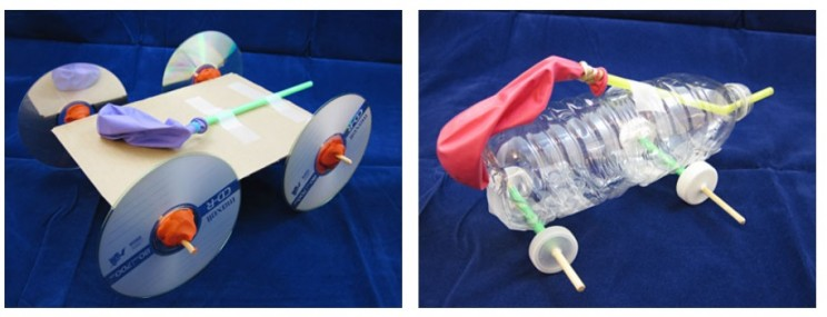 fun phone science experiments balloon cars