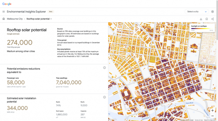 Google Maps Now Provide Geographical Carbon Footprint Projections