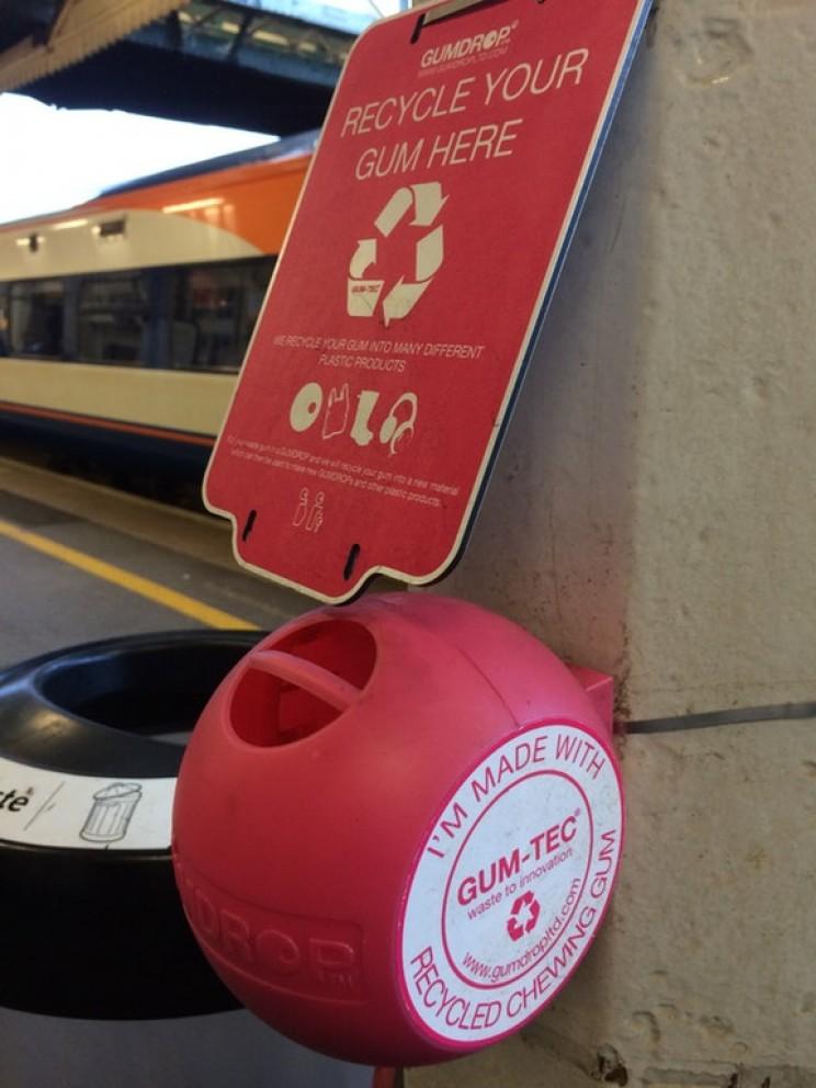 gum-tech gum bin recycled