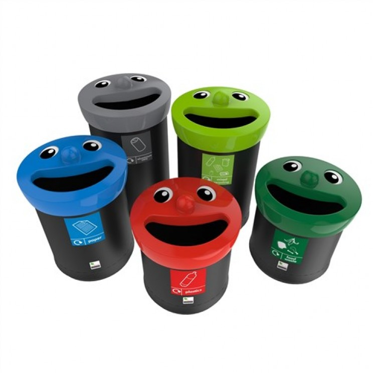 envirobin smiley bins recycling bin