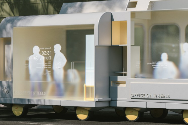 ikea space10 spaces on wheels self-driving cars office